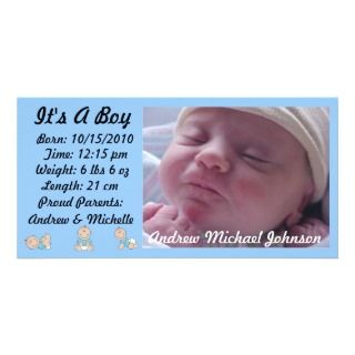 Its A Boy   Birth Announcement Photo Greeting Card