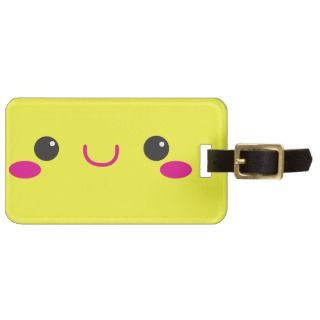 Super Cute anime Kawaii cutie face! NP luggage tags by JazzyDesigner