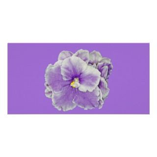 African Violet Purple Custom Photo Card