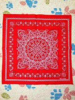 New Pattern Red Cotton Head Bandana Scarf Wrap t158