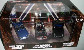 Hot Wheels 3 Car Box Batman BATMOBILE SUPER FRIENDS 1966 COMIC BOOK 1