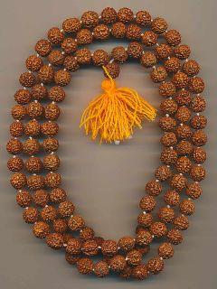 Mala Halskette Haridwar Indien (11mm) Rudraksha Samen 62b