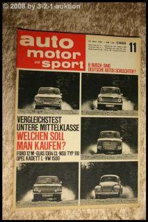 AMS 11/67 Renault 8 Gordini 1300 Glas 1304 Lancia Flavi