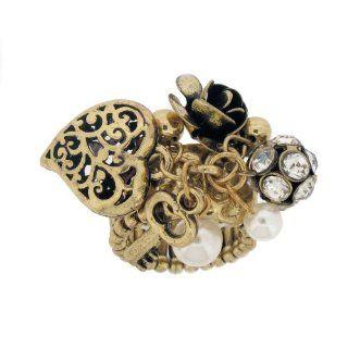 aufwendiger Antik Gipsy Ring in gold, Messing Schmuck