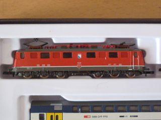 Märklin mini club 81413 Zugpackung mit E Lok + 3 Wagen, Züricher