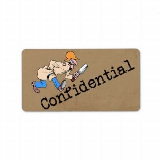 Confidenial Brown Paper Bag Personalized Address Labels