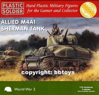 72 Panzer Plastic Soldier WW2V20004 WWII 3 x Allied M4A1 Sherman