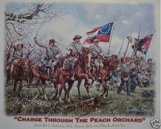 DIXIE CIVIL WAR CHARGE THROUGH PEACH ORC REBEL SHIRT