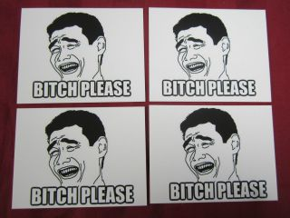YAO MING PLEASE Rage Face Vinyl decal sticker lot 4Chan 9Gag