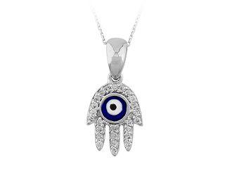 Diamant Collier Fatimas Hand 750er 18K Gold Zertifikat