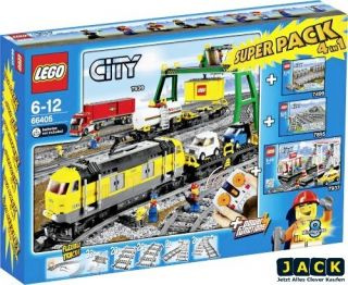 LEGO CITY 66405 GÜTERZUG SET SUPERPACK 7939 7499 7895 7937 4 in 1