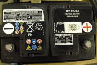 Batterie AGM VW Golf Passat Touran Seat Skoda Opel 68Ah