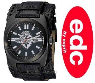 Esprit Full Blast Black EE100041003 Leder Herreenuhr UVP 69€