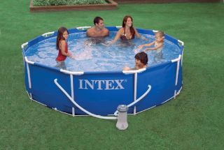 Intex Metal Steel Frame Stahlrahmen Pool 305 x 76 cm