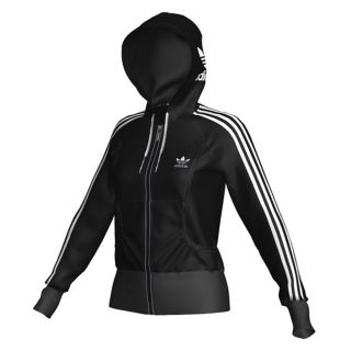Logo Zip Hoodie Damen O58684 (black white) Gr. L (40) UVP 70€
