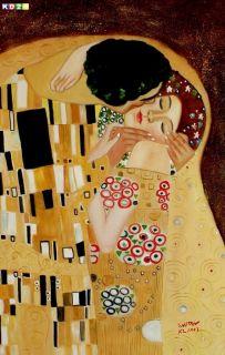 Gustav Klimt der Kuss close up d80223 60x90 CM Jugendstil Ölgemälde