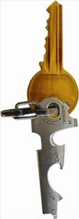 True Utility Keytool TU47 Keyring Multi Tool Bottle Opener Screwdriver