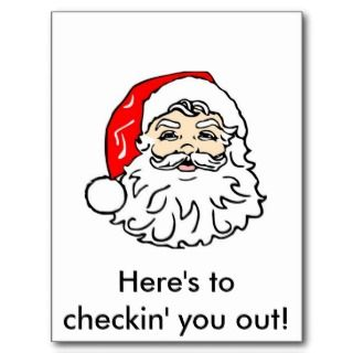 Merry Christmas Naughty Santa Postcards & Postcard Template Designs