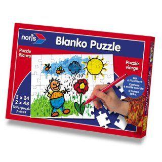 Blanko Puzzle zum selber anmalen (24+48 Teile) Spielzeug