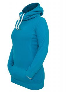 Urban Classics Ladies Hoody Long Polar türkis TB395