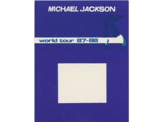 MICHAEL JACKSON  BACKSTAGE PASS WORLD TOUR 87 88 MISS PRINT