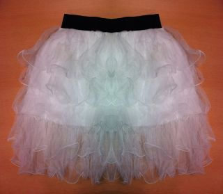 Sexy Womens/Girls 2011 Waist Tutu Tulle Tier 5 Layer Lace White Mini
