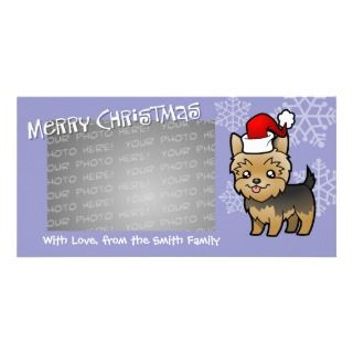 Christmas Yorkie (puppy cut) Photo Card