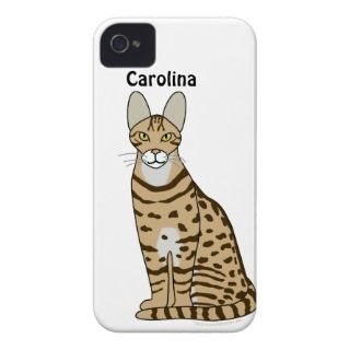 Serengeti Cat Breed Personalised iphone 4g Cover iPhone 4 Cover