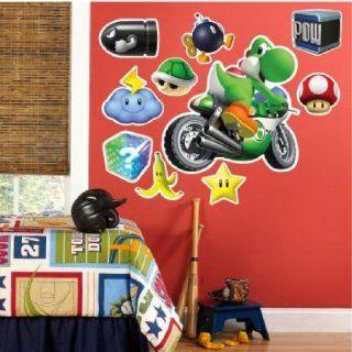 Yoshi   Super Mario Kart Riesen XXL Wandtattoo Set Mega Wandsticker