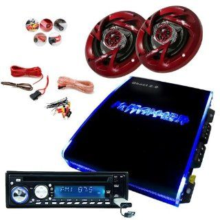 Auto Musikanlage Car Hifi Verstärker LED Endstufe Boxen