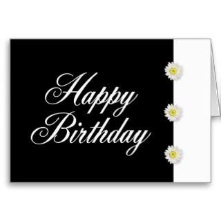 Cards, Note Cards and Black And White Birthday Greeting Card Templates