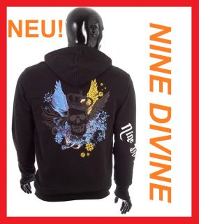 NINE DIVINE HERREN STAR TATTOO SWEAT JACKE NEU Gr M   XXXXL H87