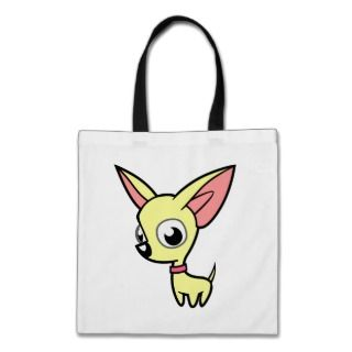 Cartoon Chihuahua (cream) bags by SugarVsSpice