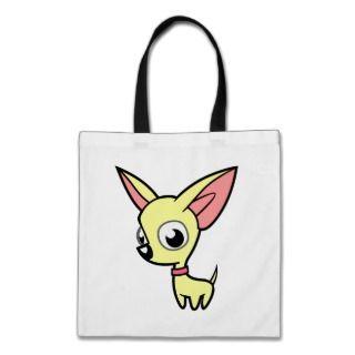 Cartoon Chihuahua (cream) bags by SugarVsSpice