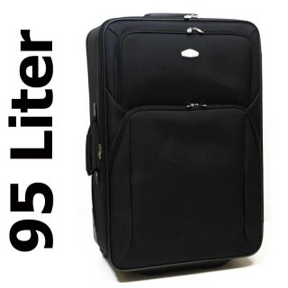 Trolley Reisekoffer XL 95 L No. 401 Nylon Koffer Schloss Suitcase Bag
