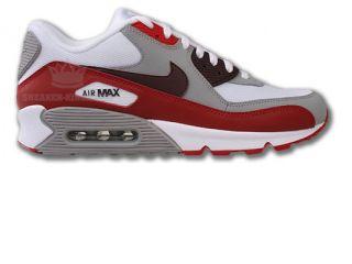 Nike Air Max 90 Grau/Rot/Weiss Neu Größen wählbar Leder Classic BW