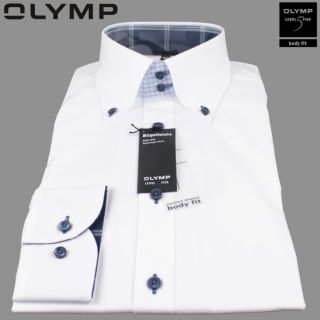 Olymp Body fit Hemd Level 5 tailliert Gr.38/39/40/41/42 button down