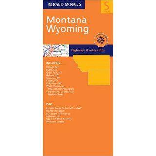 Rand McNally State Map Montana / Wyoming (Rand McNally Folded Map