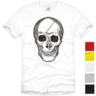 Skull T Shirt Totenkopf Street Wear Harley Rocker Punk Tattoo S M L XL