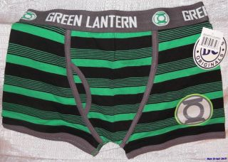 DC Comics GREEN LANTERN Logo Mens Green BOXER SHORTS