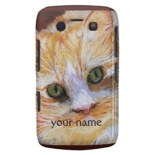 Orange Cat Face Cat Lovers Custom Blackberry Case