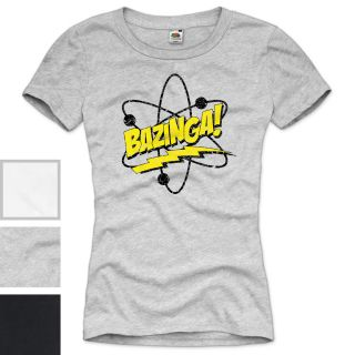 BAZINGA! The Big Bang Theory Vintage Damen T Shirt Sheldon TV Serie