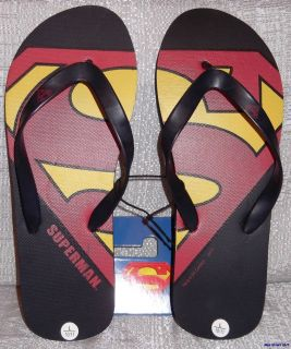 DC Comics SUPERMAN Logo Mens FLIP FLOP Sandals