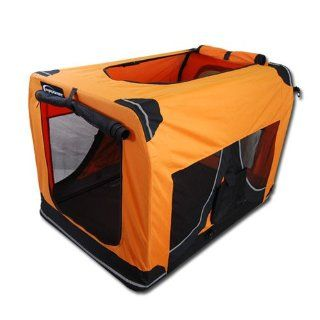 12817 TB03L Tiertransportbox in Orange   ca. 70x52x52 cm (L/B/H
