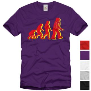 Evolution The Big Bang Theory T Shirt Vintage Roboter Sheldon TV Serie