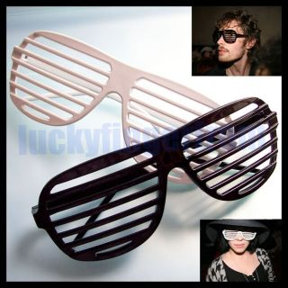 Pair Hip Hop Shutter Shades Glasses Sunglasses Party