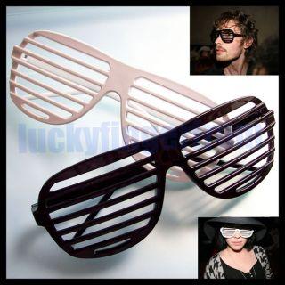 Pair Hip Hop Shutter Shades Glasses Sunglasses Party