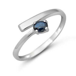 Ring 9 Karat (375) Weißgold Saphir Gr.52 MA974R2 Schmuck