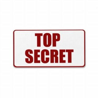Top Secret Medium size label