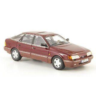 Ford Scorpio MK I, met. rot, 1986, Modellauto, Fertigmodell, Neo 143